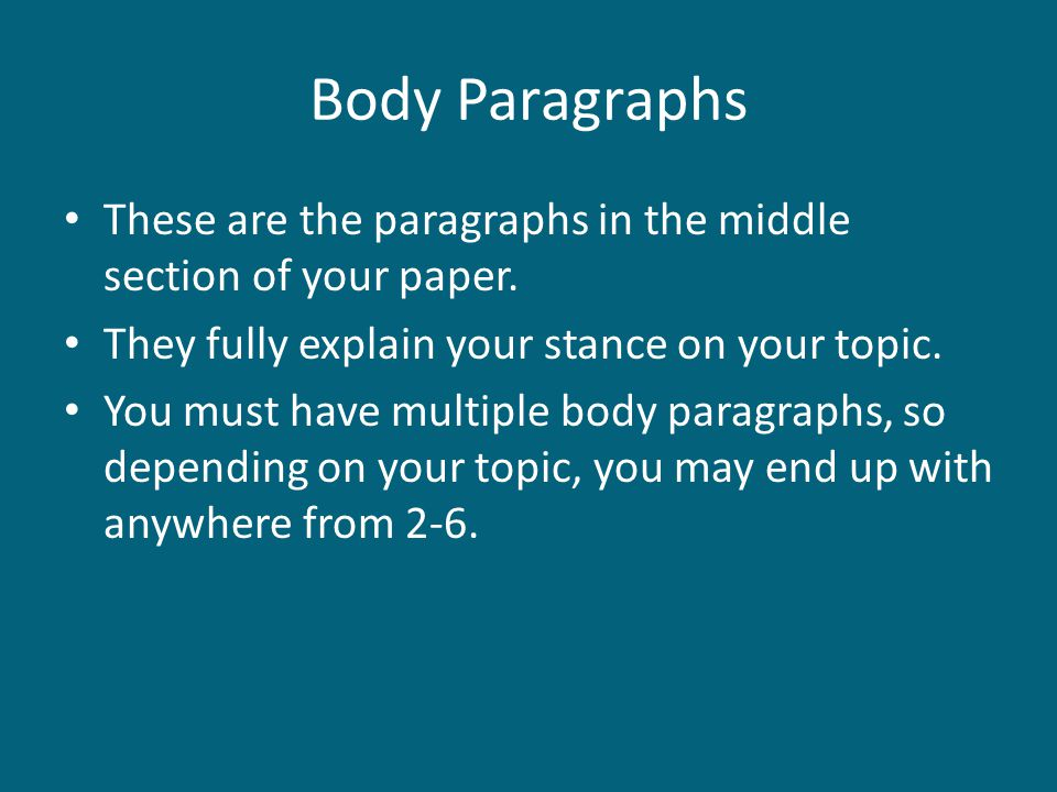 2 body paragraphs journey of the 2 determine what type of essay you're writing your essay may be a   paragraph by helping the reader to remember the journey through your essay   5 - 7 sentences is an appropriate length for paragraphs in the body.