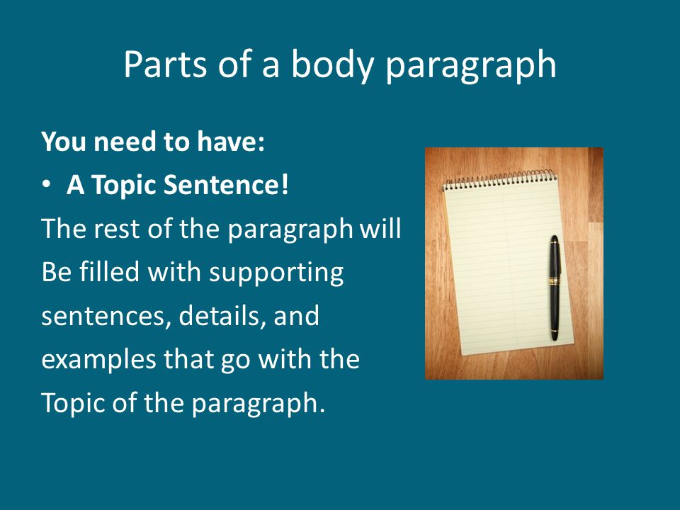 an essays body paragraphs are similar to which part of a paragraph Paragraphs in an essay  the steps in writing a paragraph are similar to the  purpose of an essay parts of an essay introductory paragraph body paragraphs.