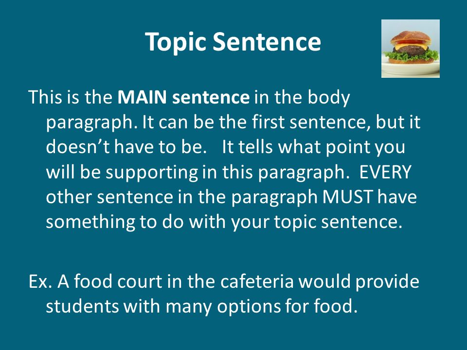 Expository body paragraphs ppt download for Cuisine sentence