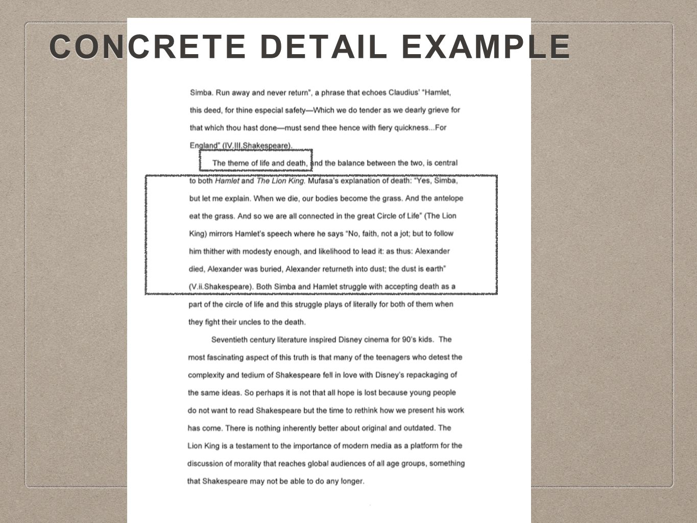 what is a concrete detail