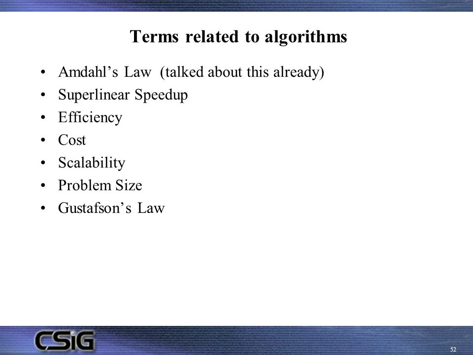 Terms related to algorithms