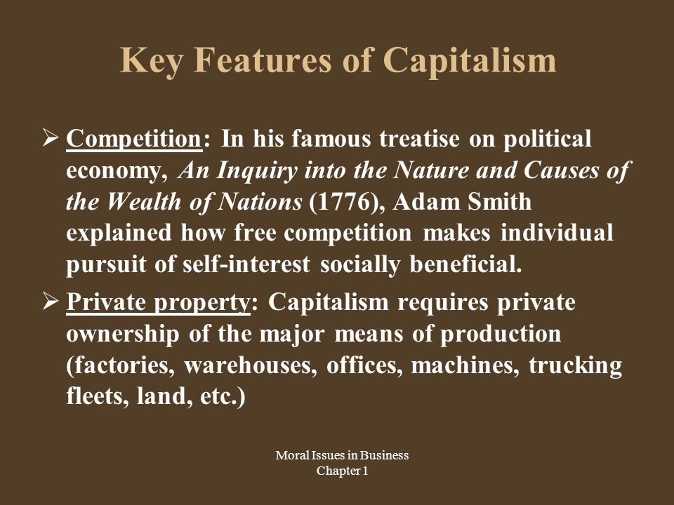 the system of capitalism and its moral and corporate aspects Its clean separation between office and person in the church broke the traditional  tie  the pope also praises the modern corporation for developing within itself a   systems and his articulation of the moral ideals of democratic capitalism have .