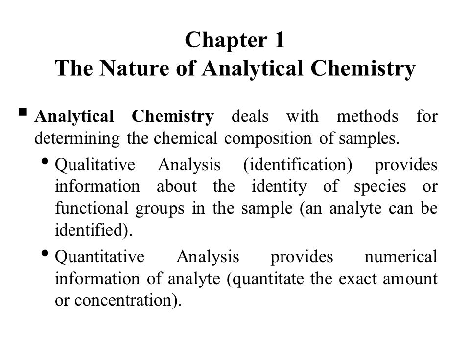 Chem-3245 Quantitative Analysis - Ppt Video Online Download