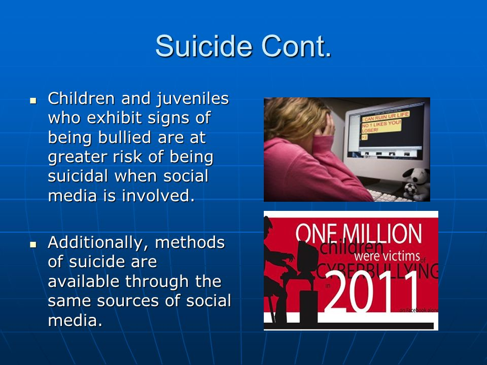 the negative effects of suicide to the society But what are the negative effects of social media  of the negative effects of social media on society  deep mental scars and even drive people to suicide in.