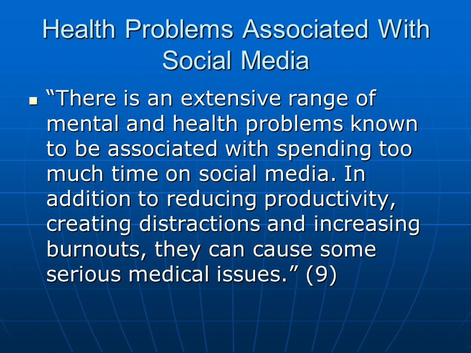 social media problems Social networking is a popular form of communicating with friends around the corner and around the world it has become one of the top forms of communication.