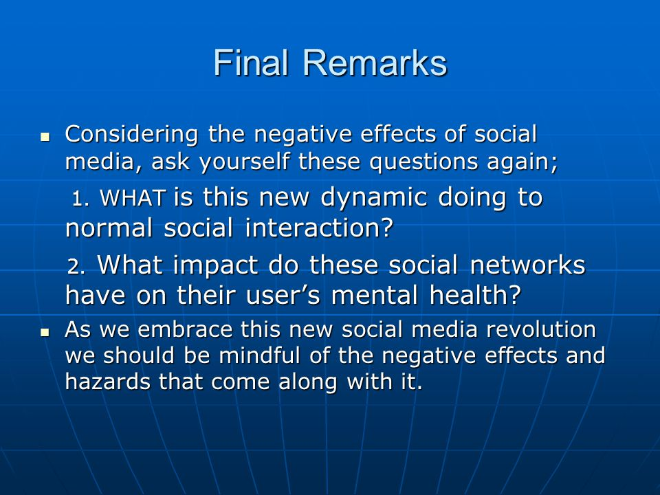 negative effects of social networking sites This article helps parents to understand and manage the negative effects of social  of negative effects on  throughout numerous social networking sites.
