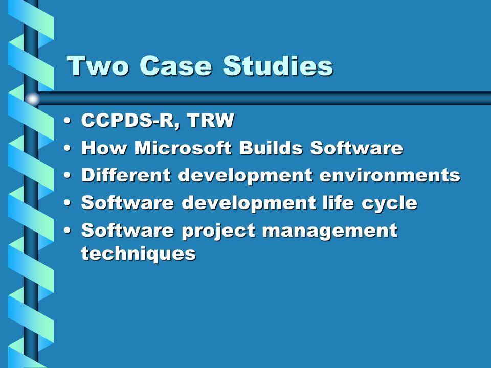 ccpds-r case study software project management