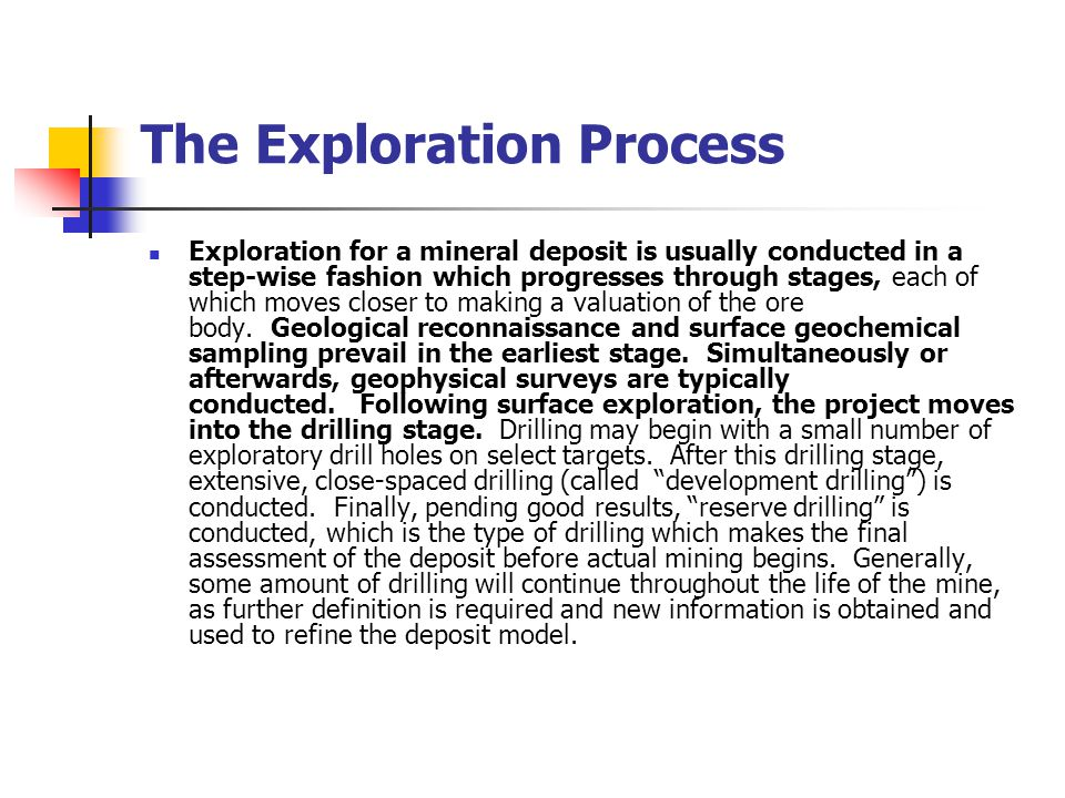The Exploration Process