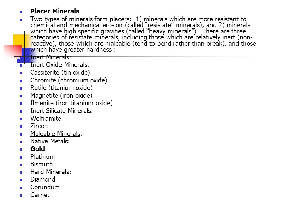 Placer Minerals