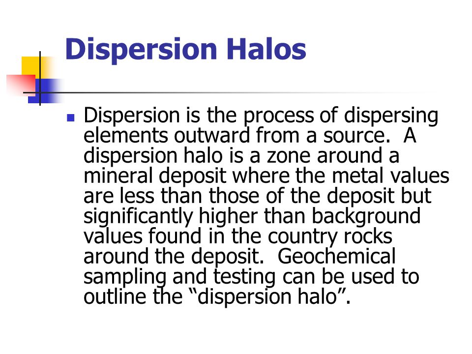 Dispersion Halos