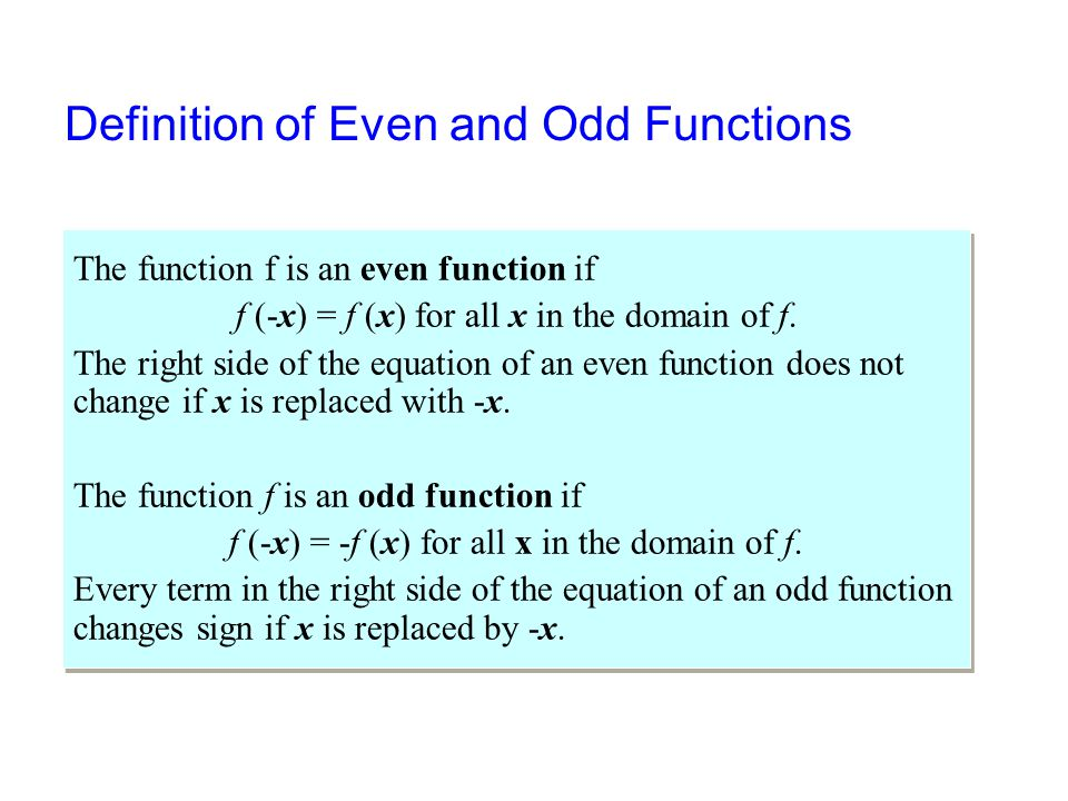 how to find if a function is even or odd