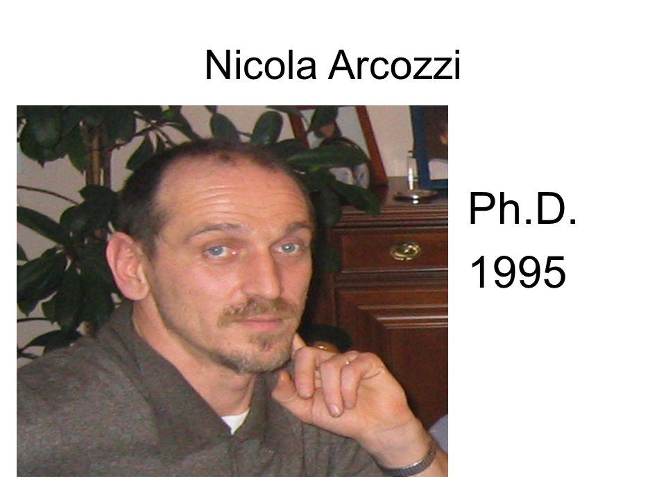 Nicola Arcozzi Ph.D. 1995