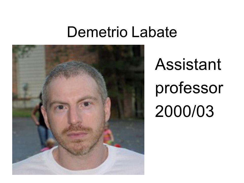 Demetrio Labate Assistant professor 2000/03
