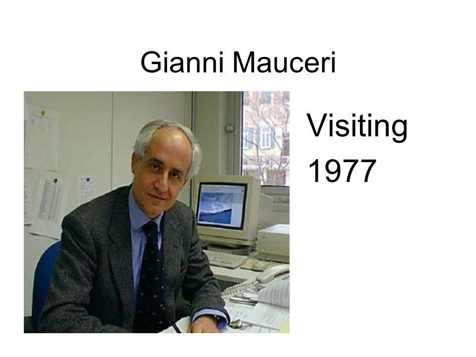 Gianni Mauceri Visiting 1977