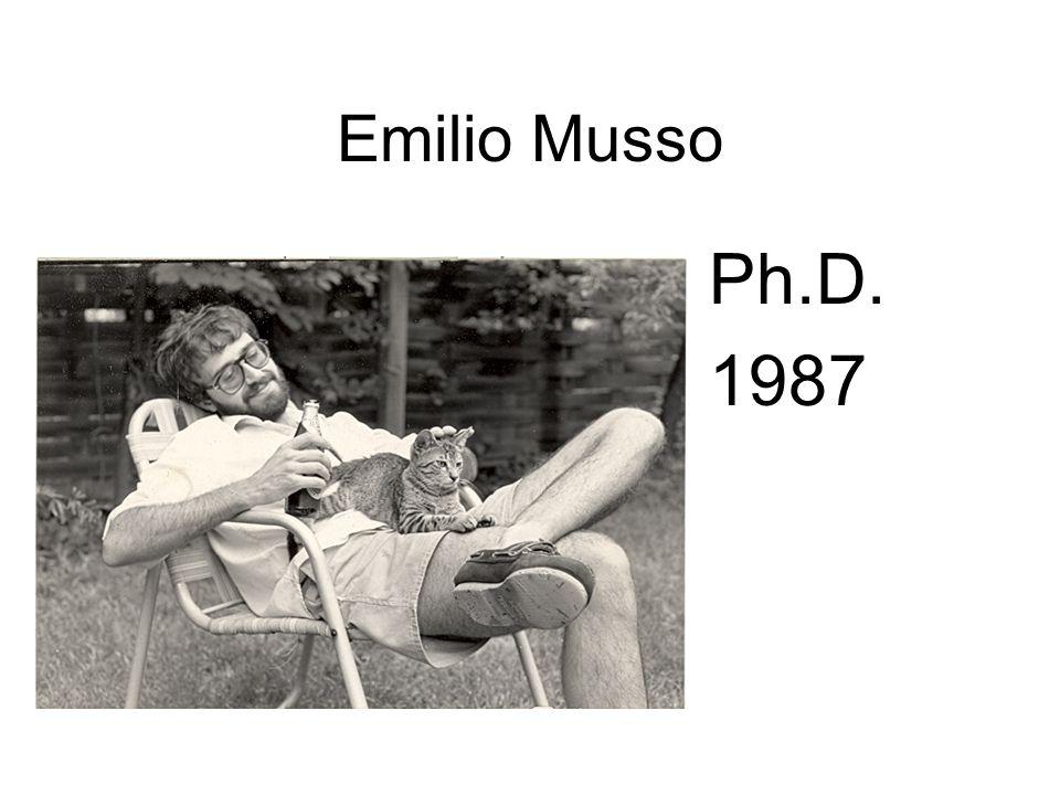 Emilio Musso Ph.D. 1987