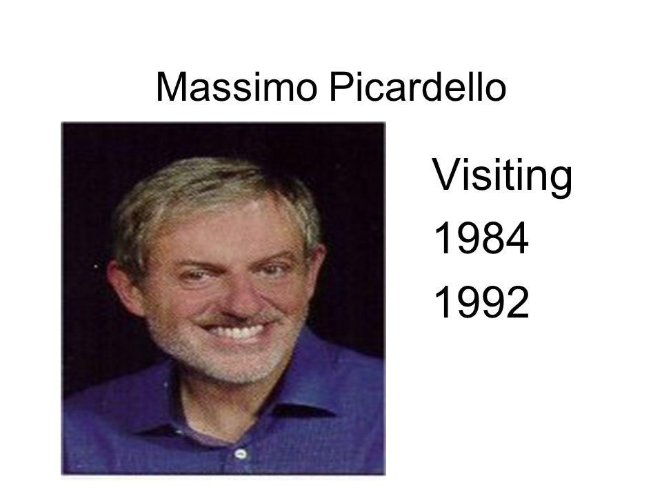 Massimo Picardello Visiting 1984 1992