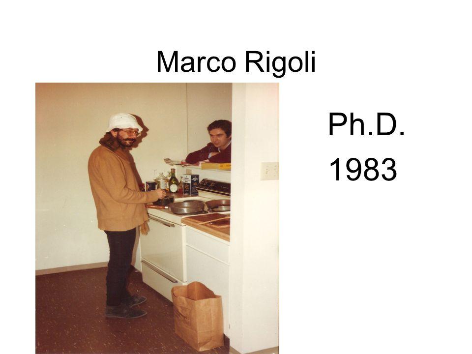 Marco Rigoli Ph.D. 1983