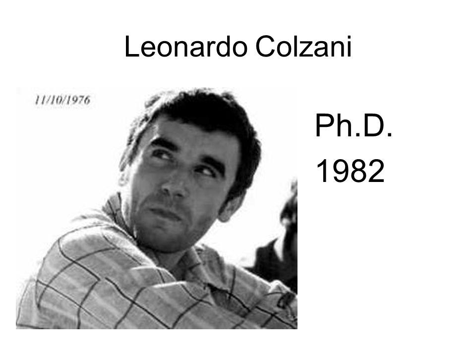 Leonardo Colzani Ph.D. 1982