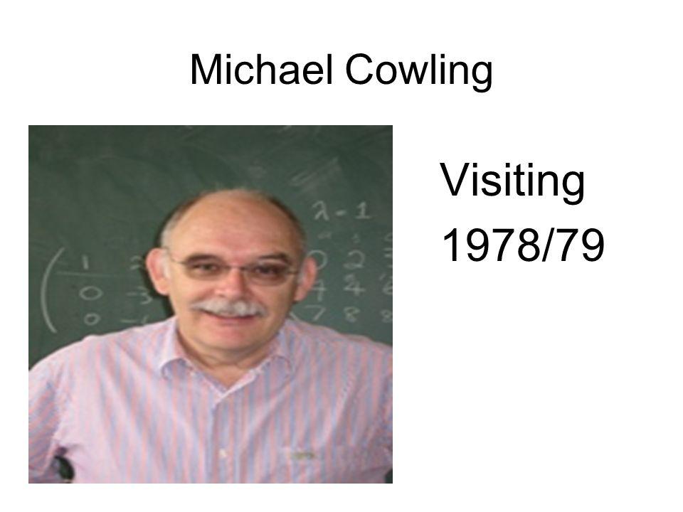 Michael Cowling Visiting 1978/79