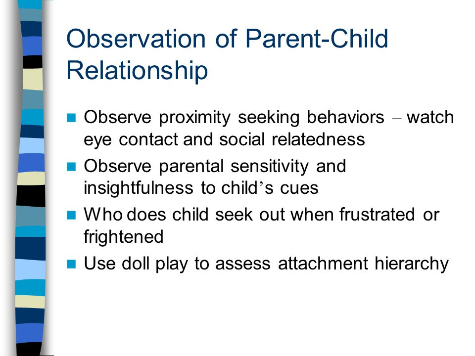 infant attachment observation Attachment observation - research database - a dissertation help resource - dissertations and theses  a discussion of the importance of infant attachment is addressed, as well as a study which illustrates how important the primary caregiver is in developing personality and attachments in later life  infant observation and analysis a 5.