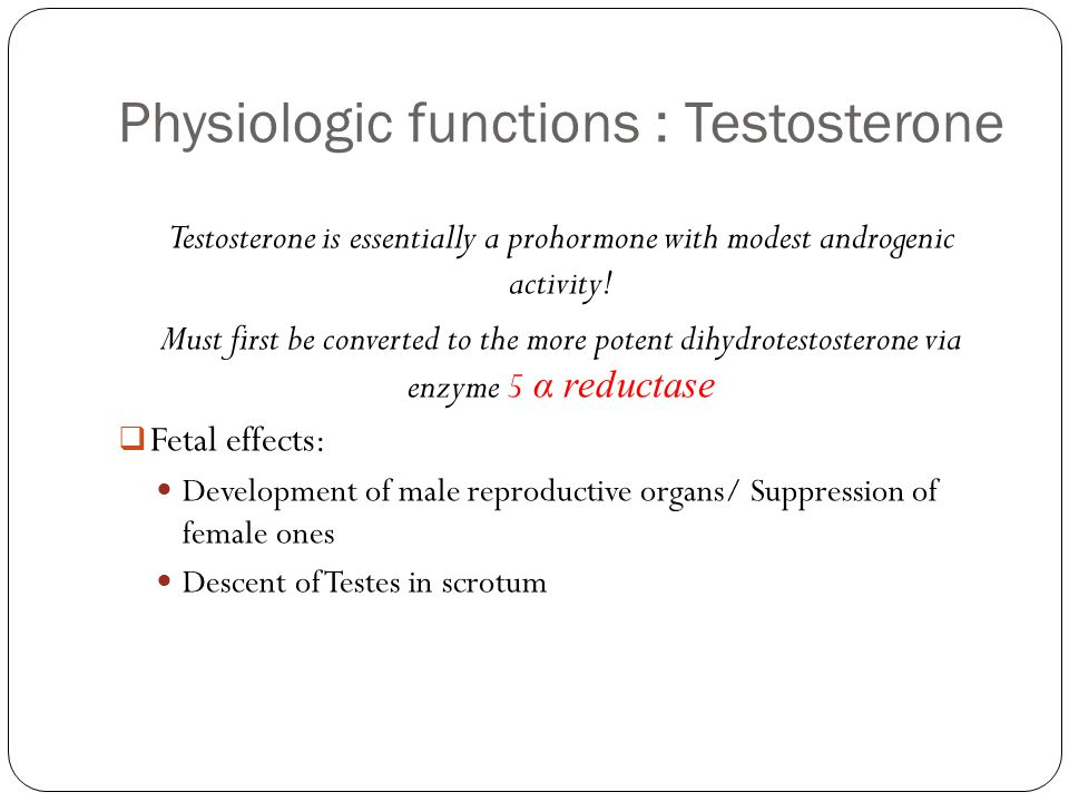 Physiologic functions : Testosterone