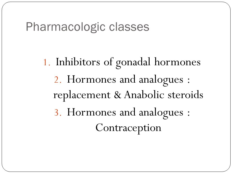 Pharmacologic classes