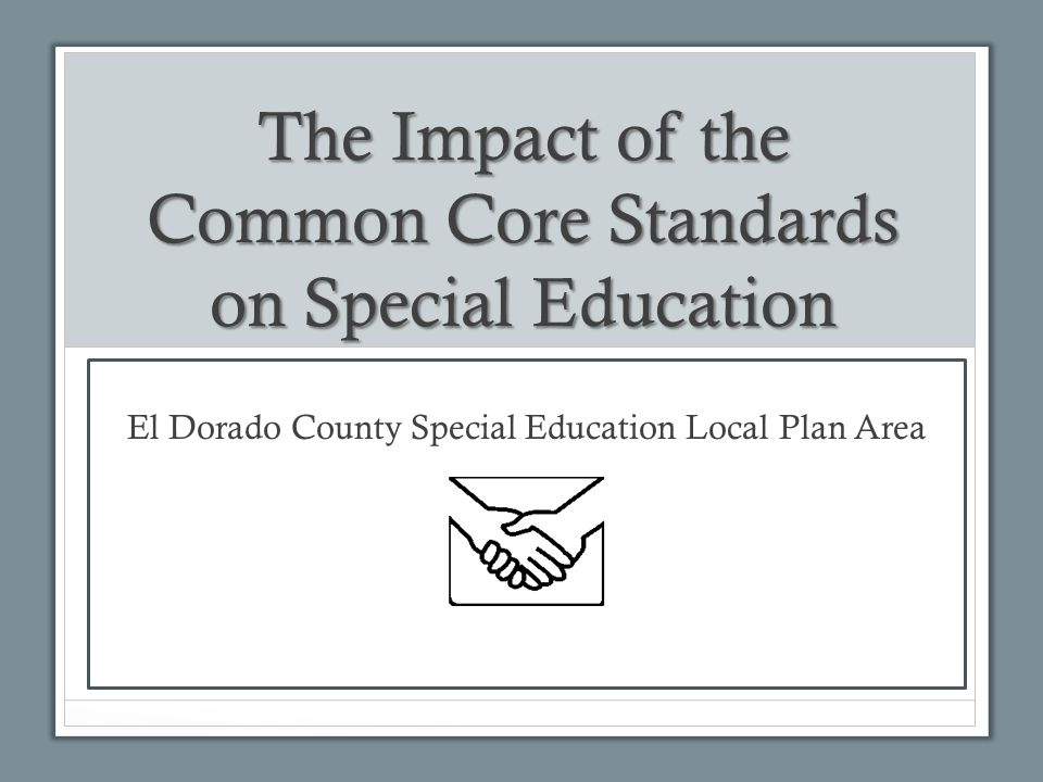 impact of special education in the Information brief addressing trends  field of special education there has been a call for the  intellectual disabilities and the impact of postsecondary education.