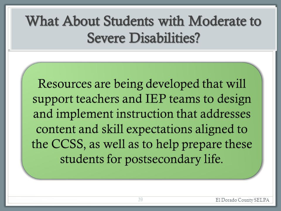 el dorado county needs assessment California special education local plan areas  to meet his/her individual needs and based on adequate assessment is assured  el dorado: el dorado .
