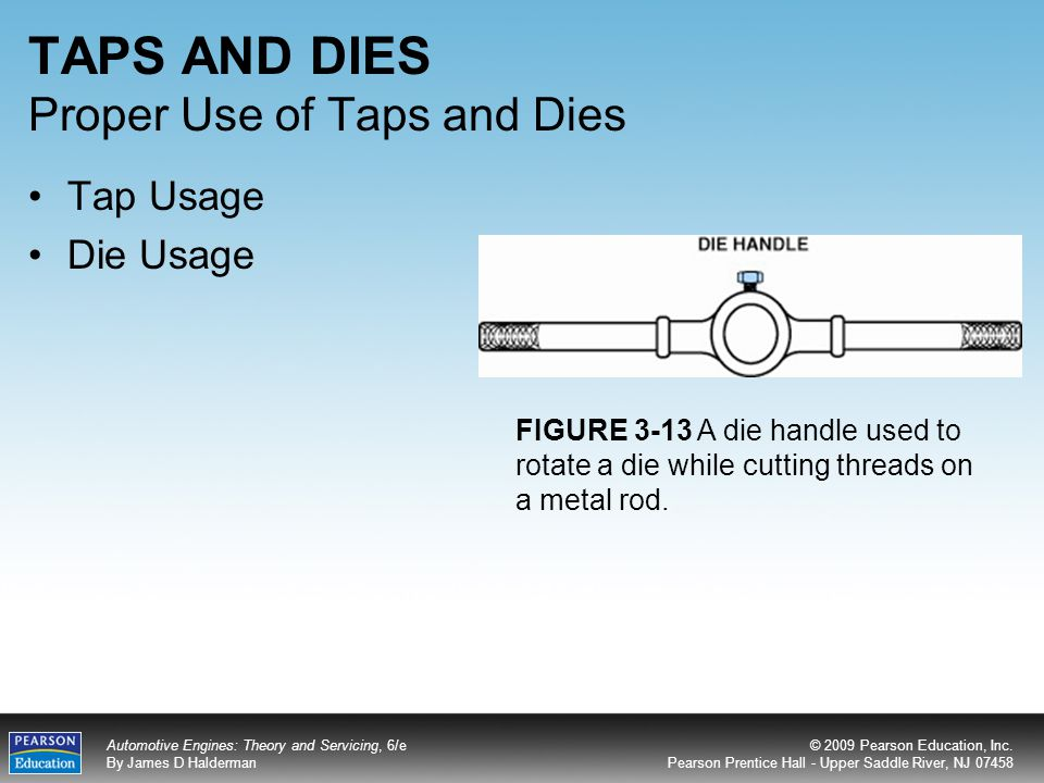 how to use tap and die