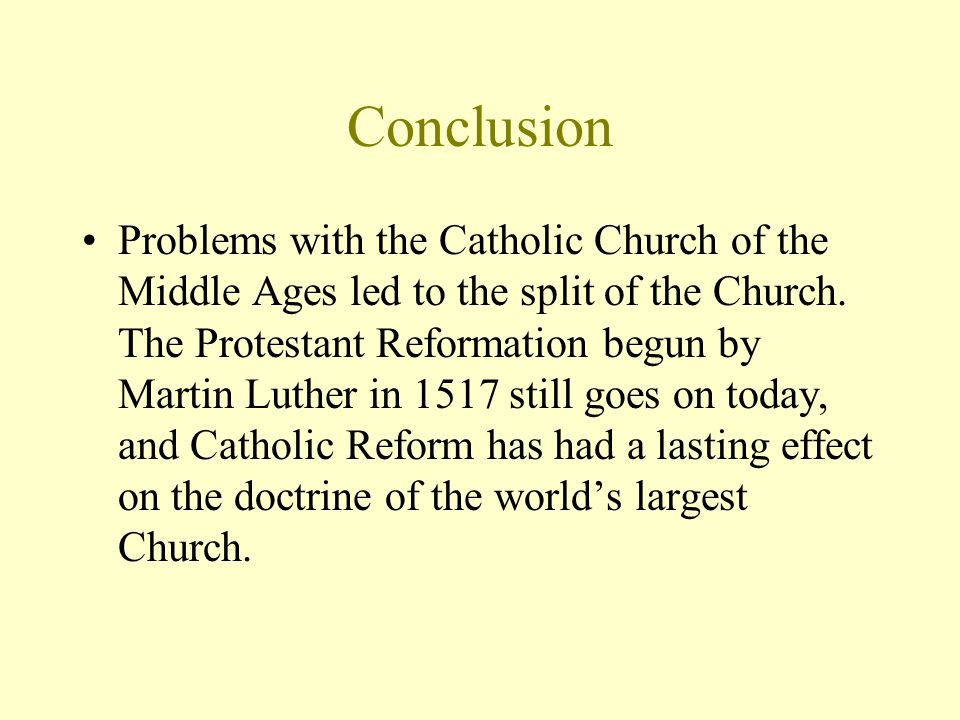 the concept of the reformation a The reformation reshaped the religion and politics of europe the relevance of the reformation for in those days the concept of freedom of conscience had not.