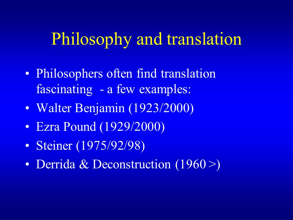 walter benjamin essay on translation The task of the translator : walter benjamin's essay in english, a forschungsbericht susan ingram just as the names and locations of the various converging two-way.