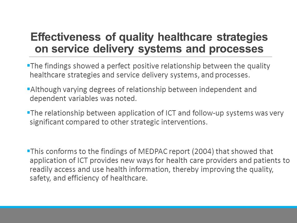 use of icts in healthcare delivery systems Engineering and the health care delivery system (editorial)  health care  system by accelerating the development and application of ict tools.