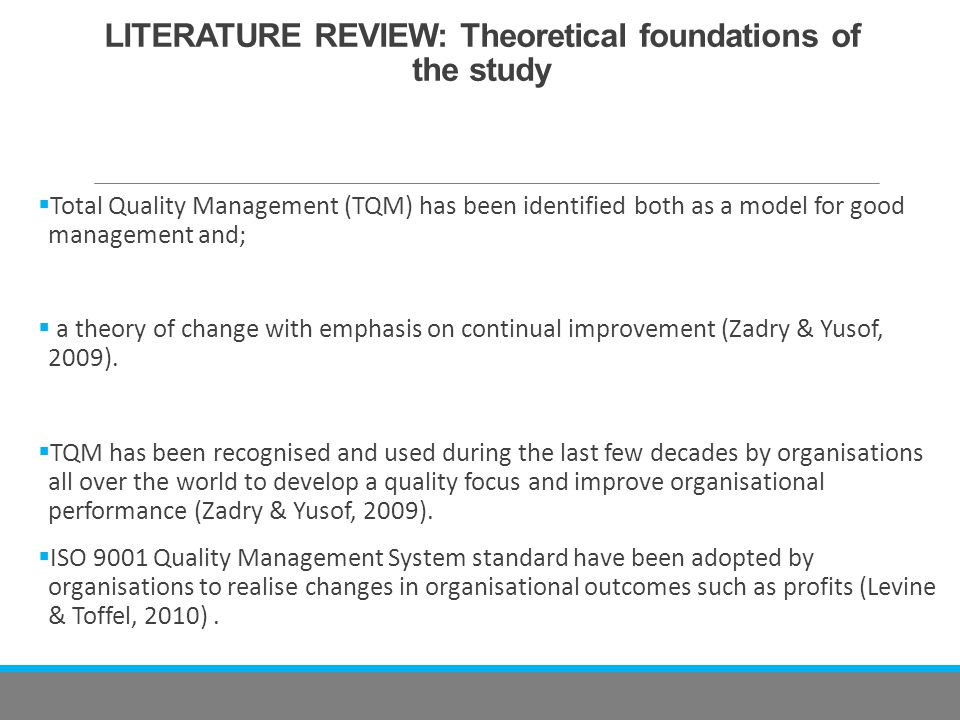 literature review of service quality improvement Quantitative techniques and quality management in service industries  review  of literature on definition of health, healthcare quality, overview and status of.