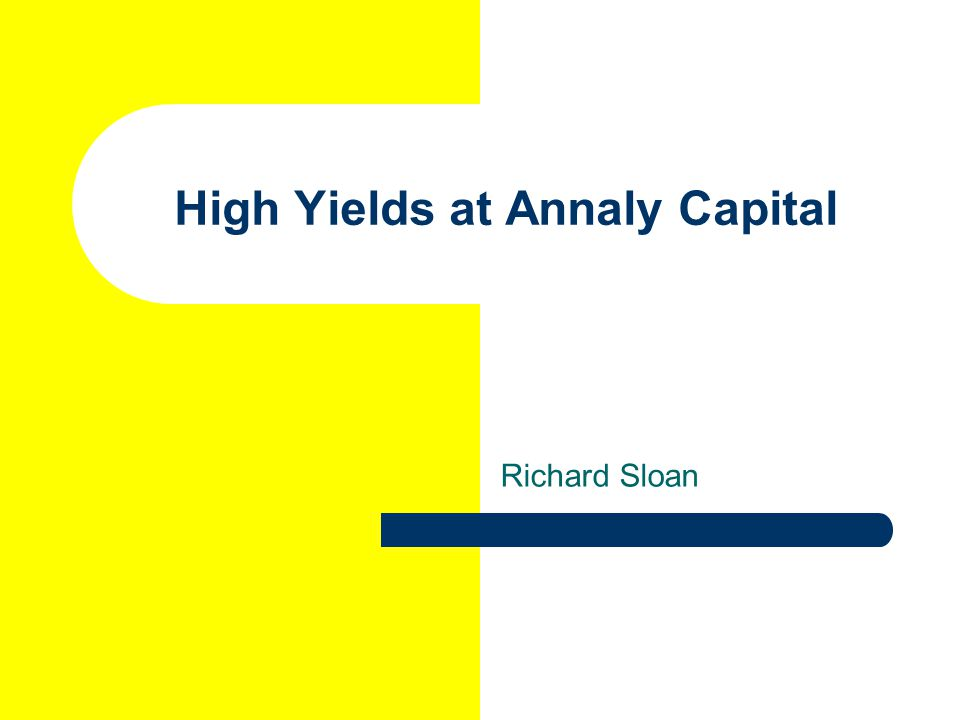 High Yields at Annaly Capital