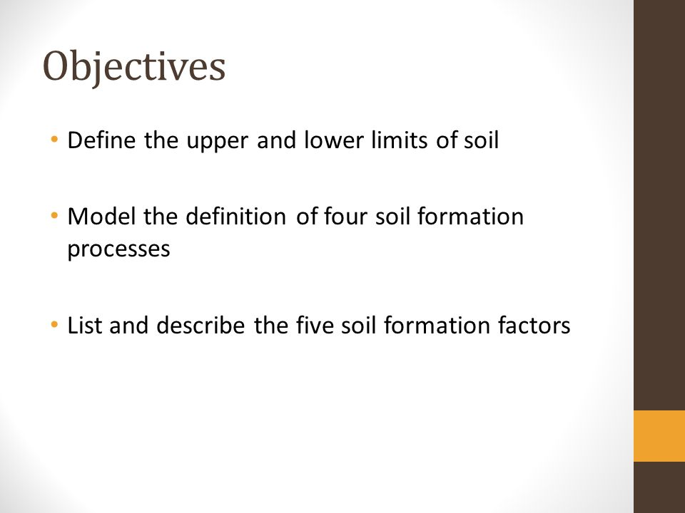 Unit soil science lesson 1 ppt video online download for Soil definition science