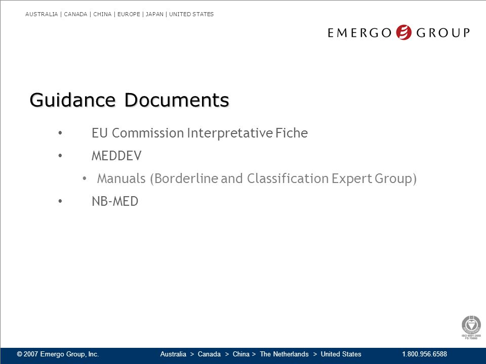 Guidance Documents EU Commission Interpretative Fiche MEDDEV