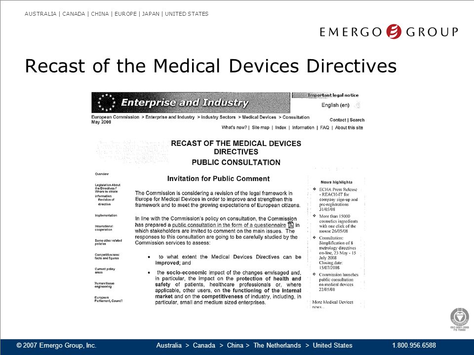 Recast of the Medical Devices Directives