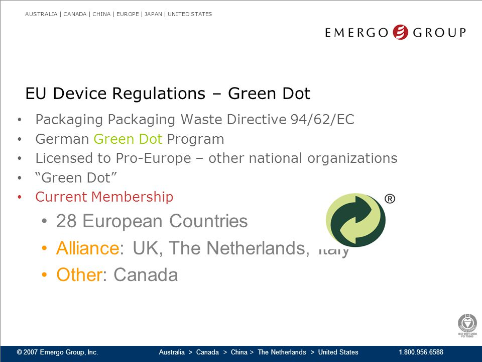 EU Device Regulations – Green Dot