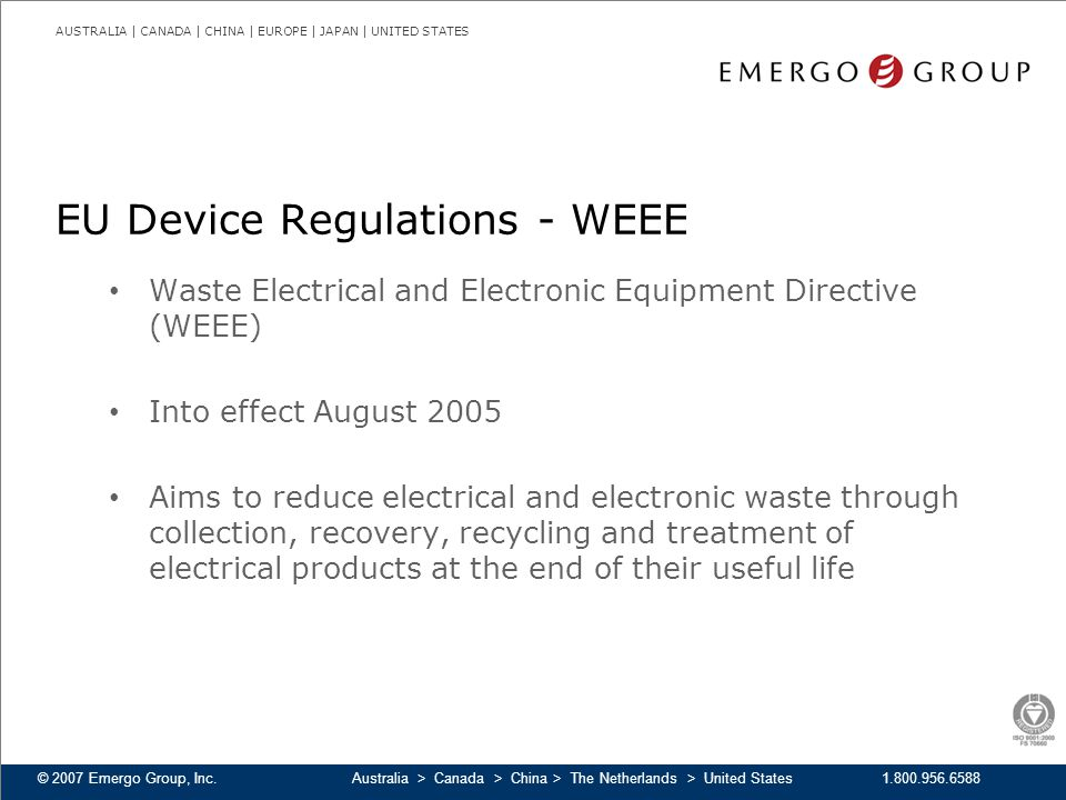 EU Device Regulations - WEEE