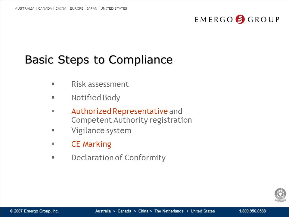 Basic Steps to Compliance