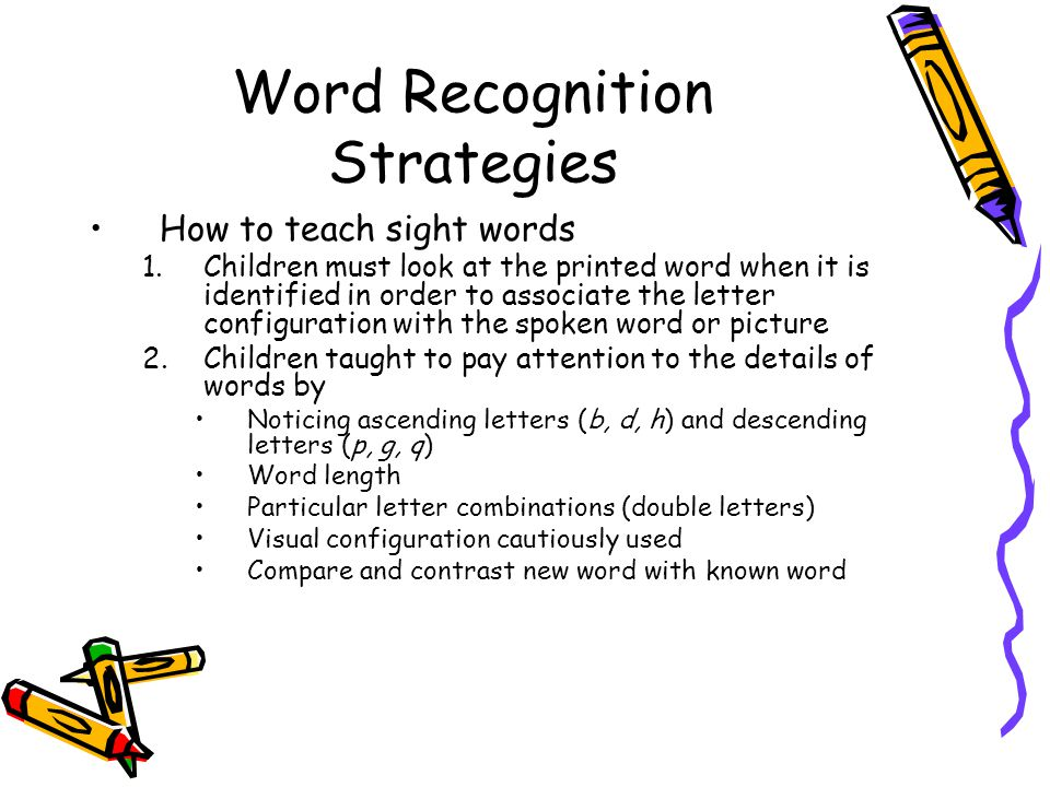 7 Word Recognition Strategies