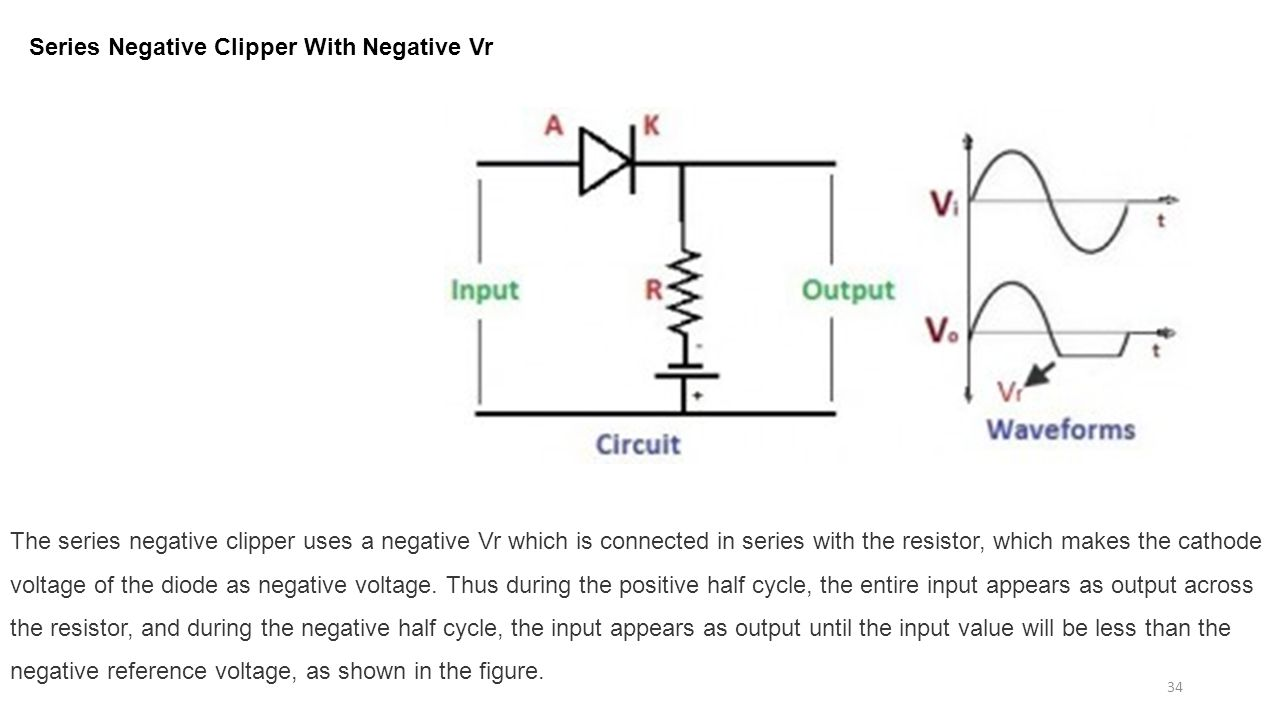Diode circuits applications ppt download series negative clipper with negative vr robcynllc Images