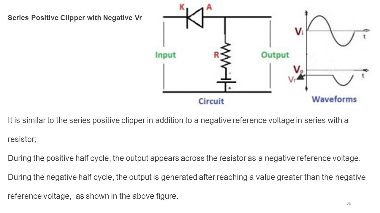 Diode circuits applications ppt download series positive clipper with negative vr robcynllc Images