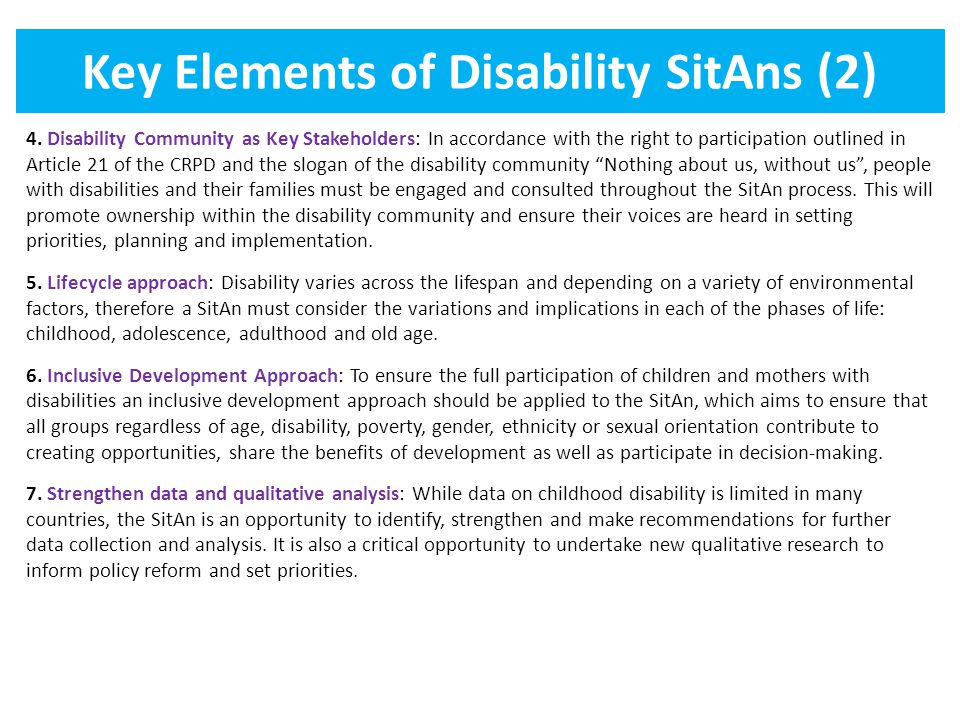 Key Elements of Disability SitAns (2)