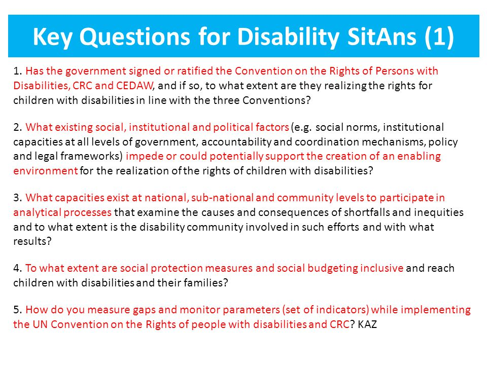 Key Questions for Disability SitAns (1)