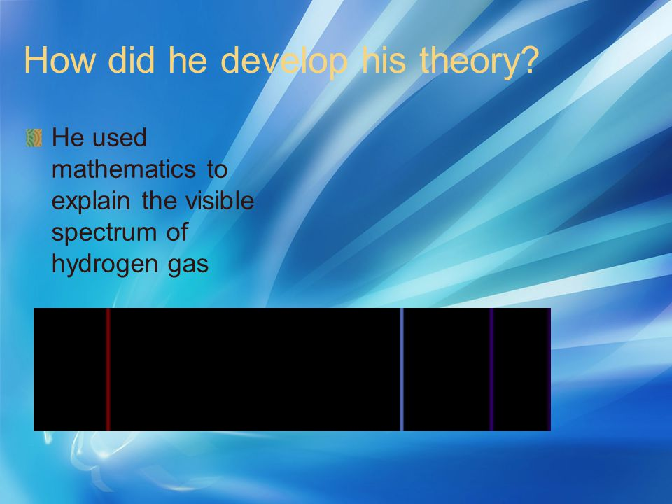 How did he develop his theory