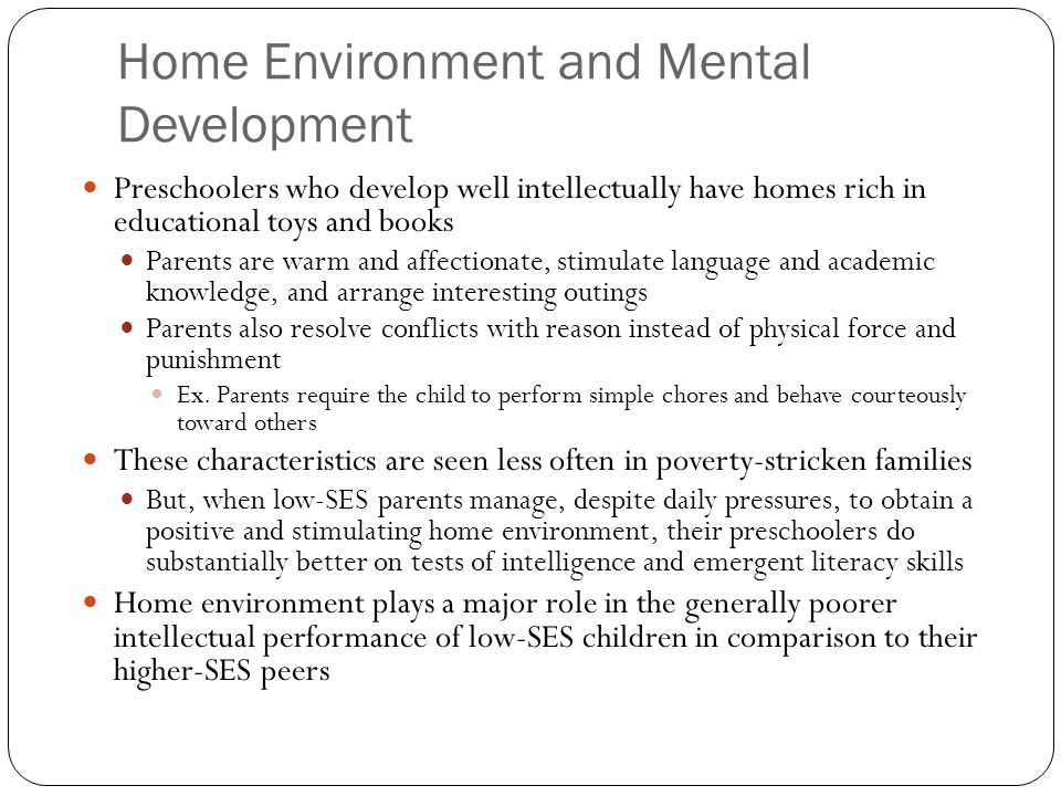 role of environment in child development The role of the adult  she is a beacon of calm in a swirl of activity and the deep bond between teacher and child,  every adult in the environment:.