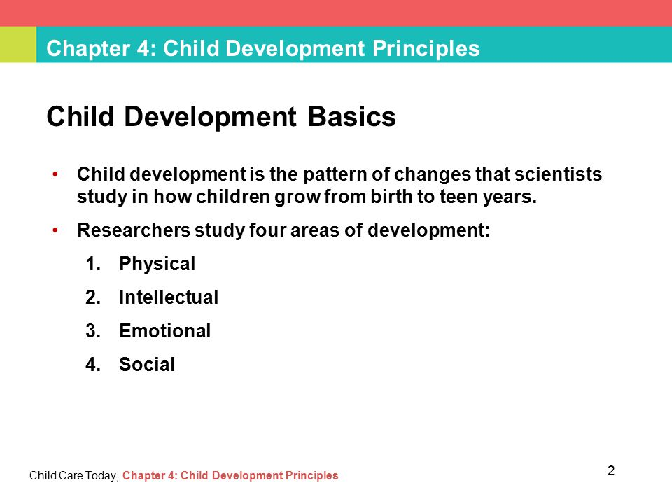 child development principles Core principles of child development and the key developmental tasks faced by young  chcfc301a support the development of c hildren date this document was.