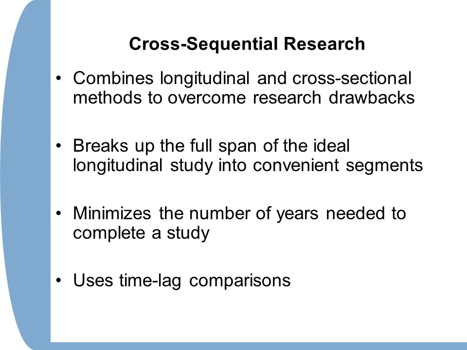 longitudinal and cross sectional research