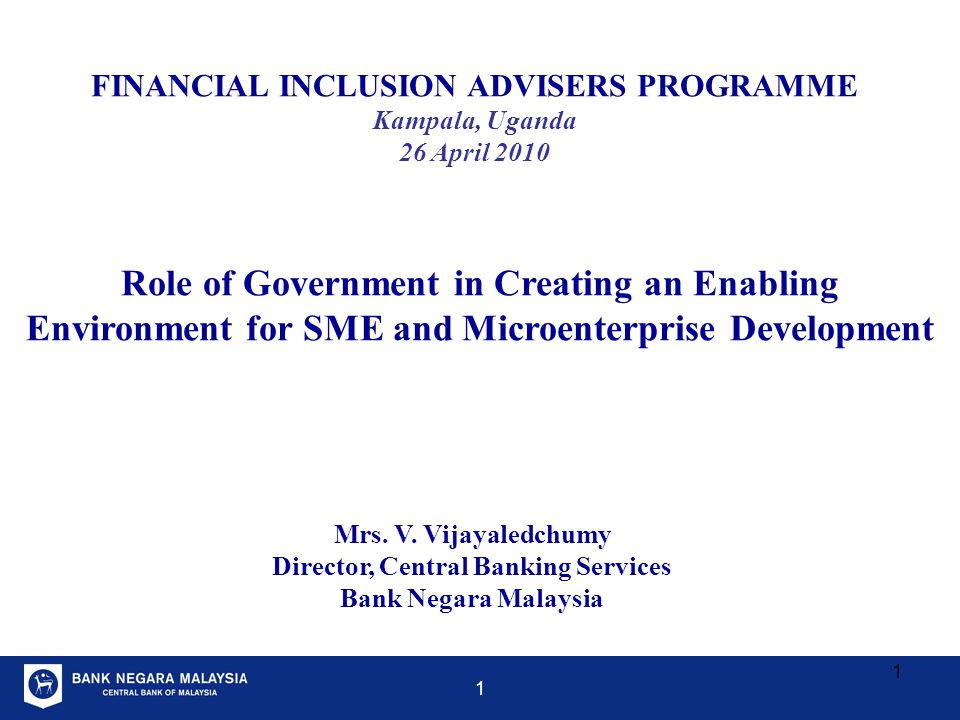 Role of Government in Creating an Enabling